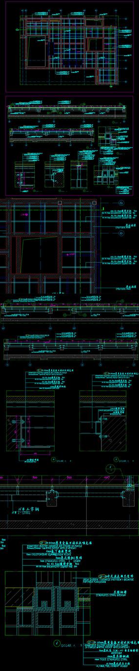 钢结构隔层cad施工图