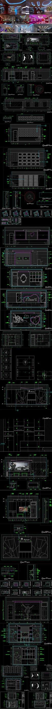 混搭KTV CAD施工图 效果图