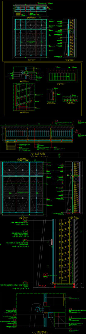 酒柜CAD酒窖设计图纸整木图纸