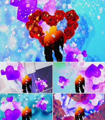 歌曲初吻舞台背景视频素材