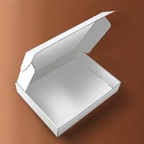 包装行业白色飞机盒主图设计