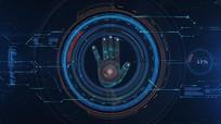 手掌触摸指纹解锁科技启动片头pr视频模板