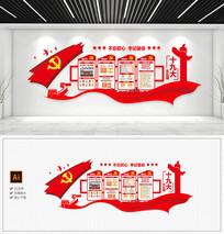 党的十九大办公室走廊党建文化墙