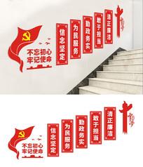 党建楼梯文化墙展板设计