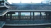 大气航拍侗族村寨文化遗址视频素材