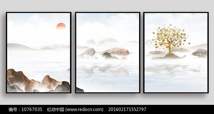 云海日出室内装饰画图片