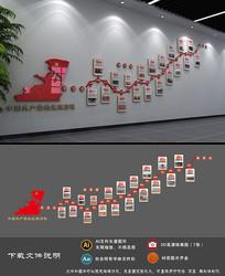 党的光辉历程文化墙党员活动室