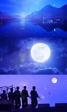 歌曲十五的月亮舞台背景视频素材