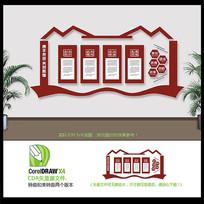 简洁大气企业形象文化墙设计
