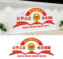 人民调解室服务中心文化墙