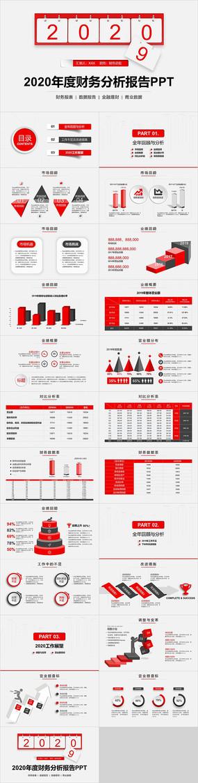 年度财务分析报告PPT模板