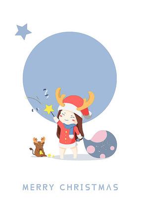 原创圣诞卡通人物