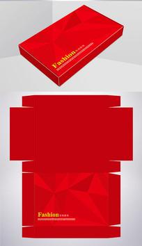 红色时尚服装包装彩盒