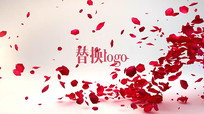 玫瑰花瓣开场LOGO标题pr模板