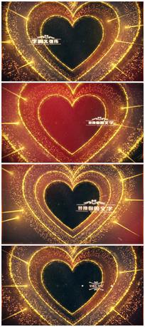 唯美浪漫婚礼开场图文展示介绍AE视频模板