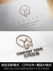 小狗logo标志狗狗商标