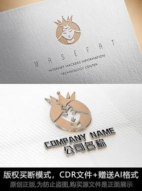大气女人logo标志女性商标设计