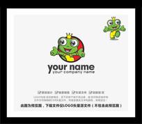 绿色青蛙卡通吉祥物LOGO