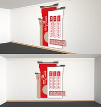 中国风社会主义核心价值观竖版党建文化墙