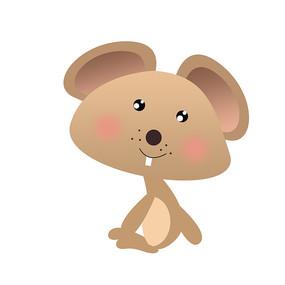 2020年鼠年卡通老鼠装饰元素