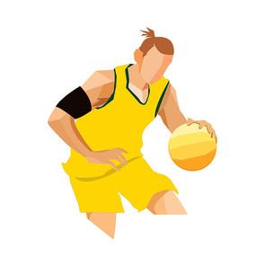 卡通人物手绘运动员球员元素