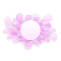 手绘剪纸花瓣粉色透明边框元素