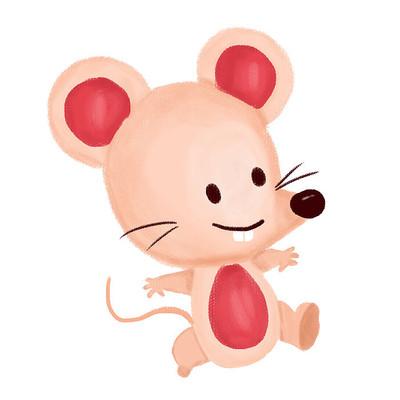 鼠年福到卡通形象设计