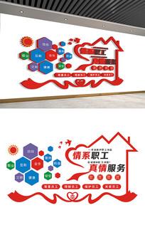 创意情系职工企业文化墙设计