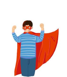 儿童梦想超人超越自我
