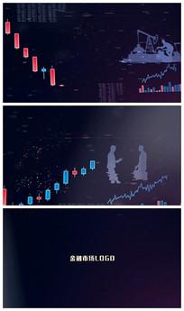 金融股票标题片头视频模板