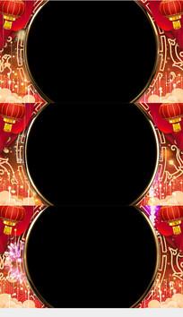2020春节拜年视频边框视频素材
