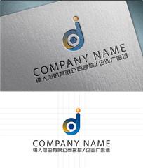 dj字母LOGO标志设计