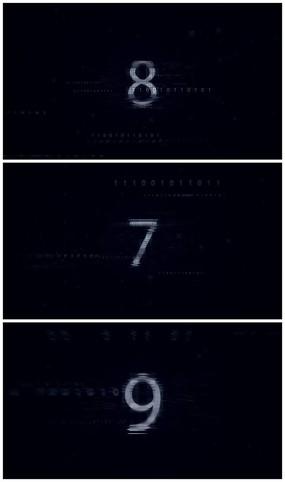 科技10秒倒计时AE视频模板
