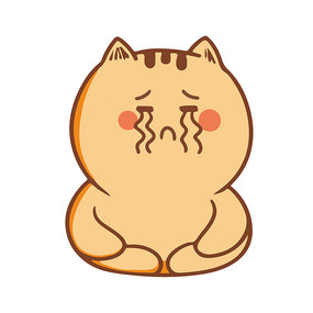 哭泣的小肥猫表情包元素