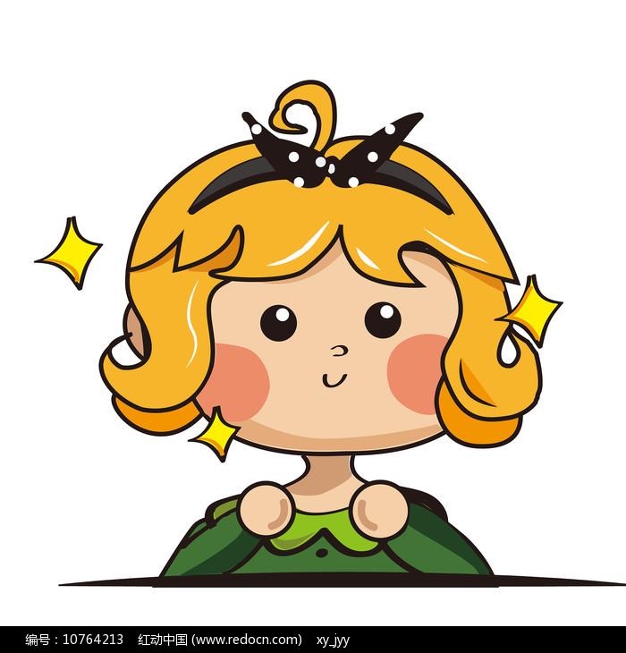 小星星英伦风小女孩表情包元素