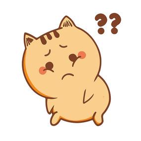 疑问的小肥猫表情包元素