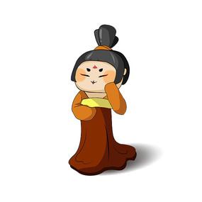 圆脸日本艺伎表情包元素