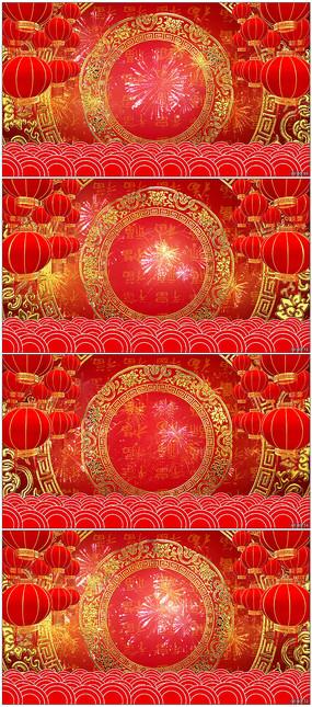 最新春晚喜庆背景视频素材