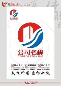 Y英文字母酒店餐饮标志设计