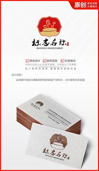 餐饮馅饼传统美食logo商标志设计