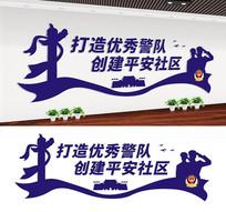 创建平安社区宣传标语墙设计