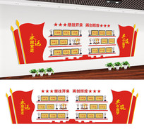 党建活动室荣誉墙文化墙设计