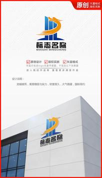 飞龙装饰工程建筑公司logo商标志