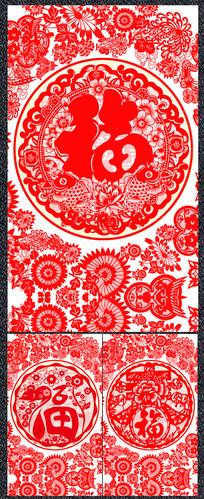 简约2020鼠年春节剪纸海报
