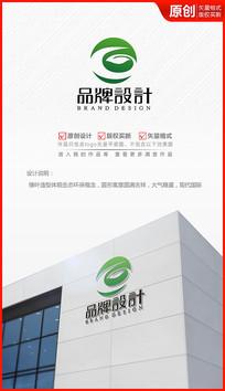 绿叶环保生态科技绿色logo商标志