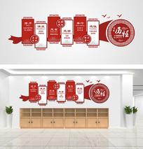 时尚大气企业文化墙设计