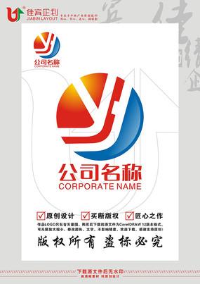YY英文字母电池LOGO标志设计