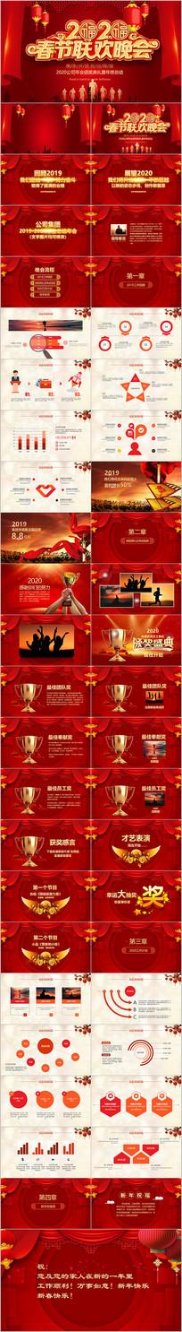 2020新年春节联欢晚会公司年会PPT