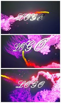 彩色粒子汇聚logoAE视频模板