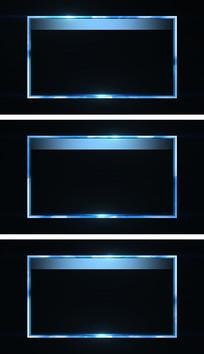 金属流光质感边框通道元素视频素材